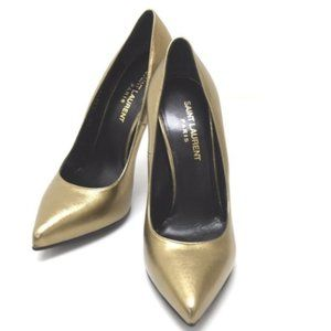 Authentic SAINT LAURENT Metallic Leather Pumps